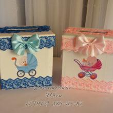 Свадебные аксессуары. Свадебная коробка на мальчика и девочку.